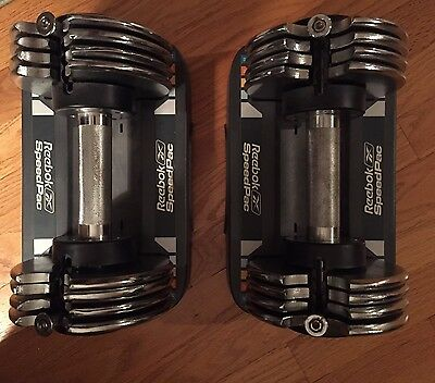 REEBOK SPEED PAC Adjustable Dumbell Weight Set, 25lbs each, 50lbs Total