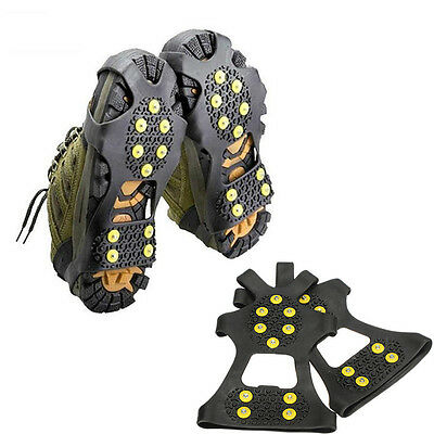 New Strong Snow Anti Slip Spikes Grips Gripper Crampon Cleats For Shoes Overshoe