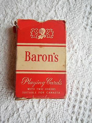 Barons playing cards, collectable