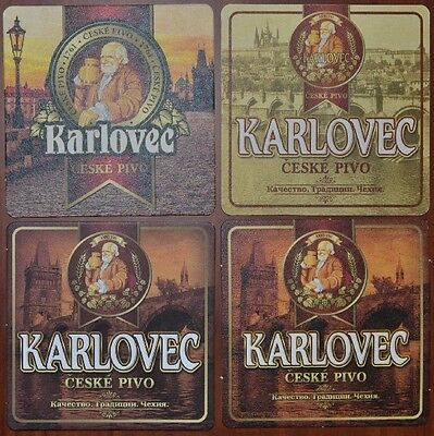 Set of RUSSIA beercoasters KARLOVEC (4 different)