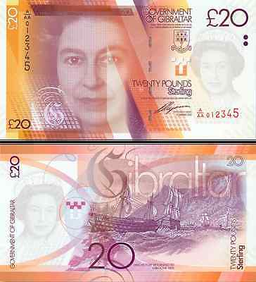 Gibraltar- 2011 £20 Bank Note (UNC)
