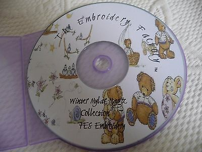 Winter Mylar Snowmen Machine embroidery  CD  From the Embroidery Factory