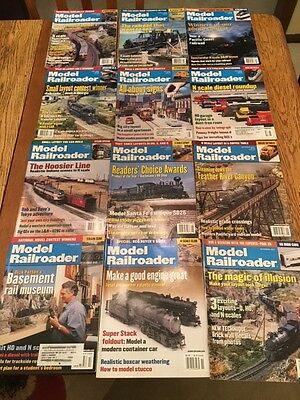 Model Railroader Magazine 2001 - 12 Issues - Complete Full Year