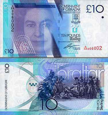 Gibraltar- 2010 £10 Bank Note (UNC)