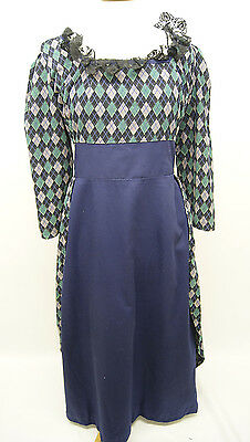 Blue and Green Regency Day Dress
