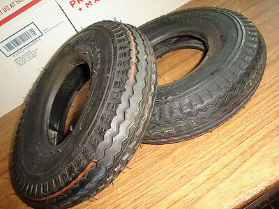 Sale!!! Pair Of  Tires 2.80/2.50-4 Saw Tread Scooter Hand Truck