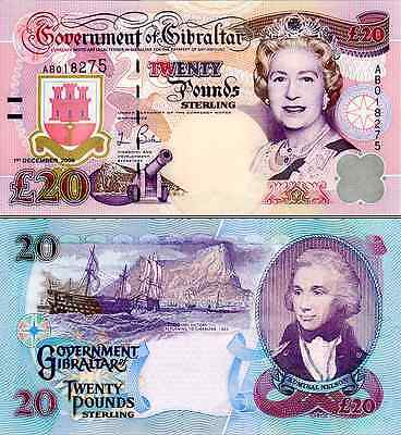 Gibraltar- 2006 £20 Bank Note (UNC)