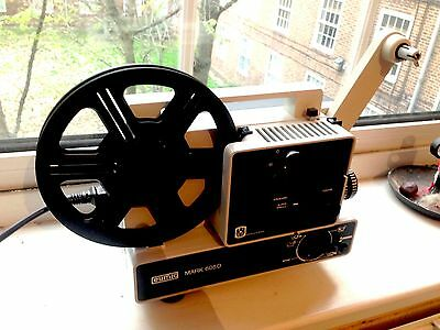 Eumig 605D Dual Format Super 8mm and 8mm Cine Projector TESTED