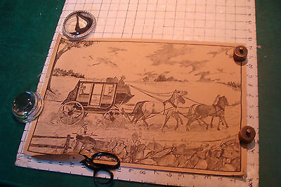 """Original Vintage Poster: 12 x 18"""" undatted STAGECOACH cool;"""