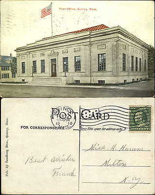 Court House Quincy Massachusetts mailed 1910