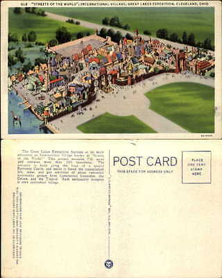 Great Lakes Exposition Cleveland OH aerial International Village 1930s