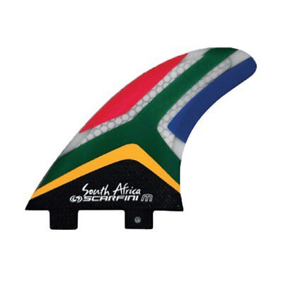 Derives Scarfini Flag South Africa Fins Surf Carbon Honey