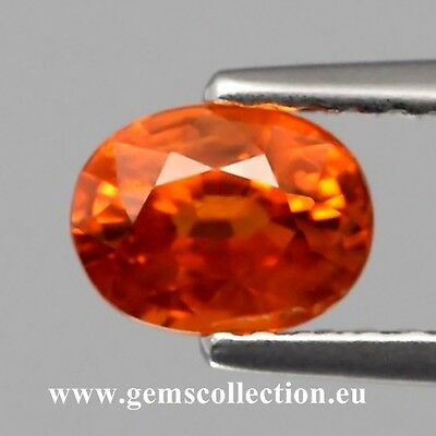 Aaa - Spessartite Garnet  Ct 1.12 Oval  Cut  Origin Namibia Africa  Very Good