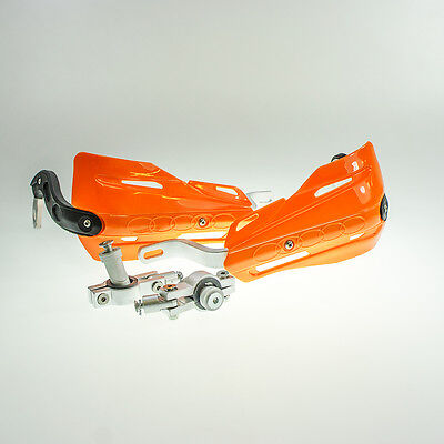 Aluminium Reinforced Motorcycle Motocross Supermoto Handguards Hand Guard Orange