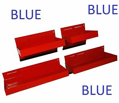 4pc BLUE - Magnetic Toolbox Tray Set Tool Box Cabinet Side Garage Parts Shelf
