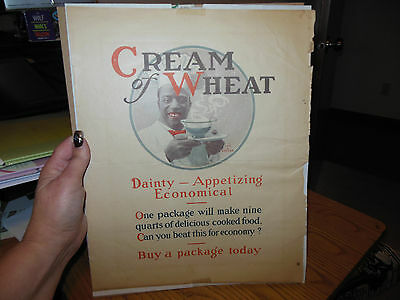 "1921 VINTAGE CREAM OF WHEAT ""Dainty--Appetizing Economical""  PRINT"