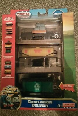Thomas the tank engine & Friends Trackmaster DIESELWORKS DELIVERY TRUCKS BOXED