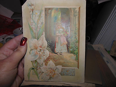 Lion Coffee Woolson Spice 1890's Easter Girl & Flowers