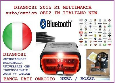 Autodiagnosi 2015 .1 Multimarca Auto/camion/bus Obd2 In Italiano New Profession