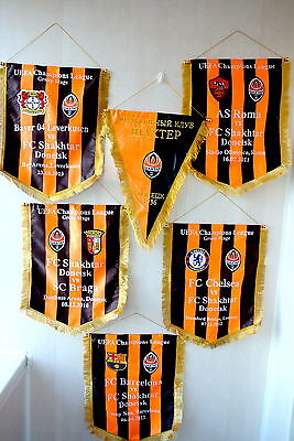 Embroidered Match pennant FC Shakhtar Donetsk Ukraine RARE Champions League