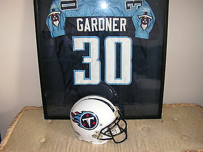 Tennessee Titans Rich Gardner Game Used Jersey Framed Penn State Nitney Lions