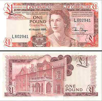 Gibraltar- 1988 £1 Bank Note (UNC)
