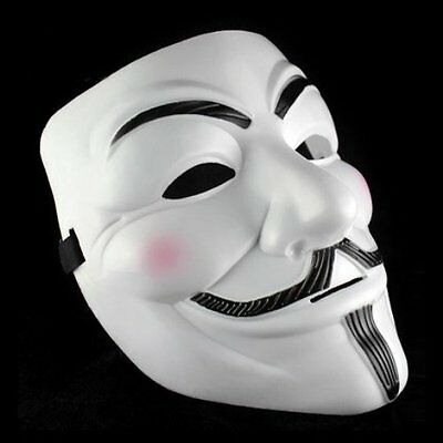 V For Vendetta Guy Fawkes Fancy Costume Party Masquerade White Halloween Mask