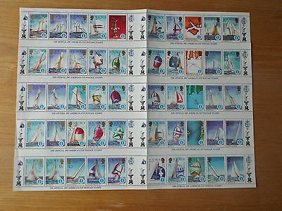Solomon Islands 1987 America's Cup Sheet 50 Stamps