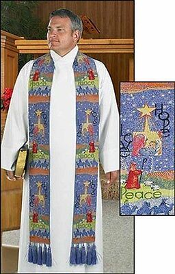 Story of Christmas Tapestry Clergy Stole (MC469) NEW Christmas and Advent Stole