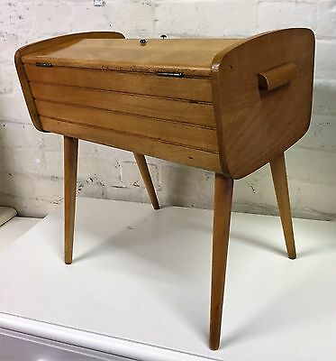 Vintage Retro Barell Sewing Box / Craft Box Inclusive Of Contents