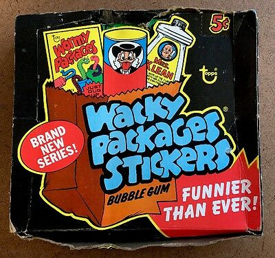 1974 Topps Wacky Packages 11th Series FULL BLACK BOX with 48 Green Wax Pack