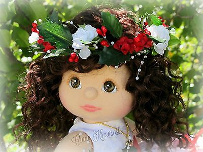 Custom Holiday OOAK My Child Doll-Aussie with Sewn-in Brunette Wefted Hair