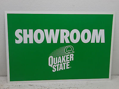 Quaker State Oil  (show room) Sign - Metal - 1 Sided 24x16