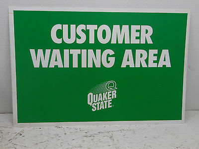 Quaker State Oil  (Customer Waiting Area) Sign - Metal - 1 Sided 24x16
