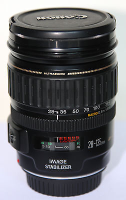 OBJECTIF LENS ZOOM EF CANON EOS 28-135 mm USM 1:3.5-5.6 IS IMAGE STABILIZER