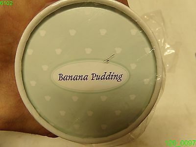 """Case Of 500: Banana Pudding Lid 3-1/2"""" Dia. - New"""