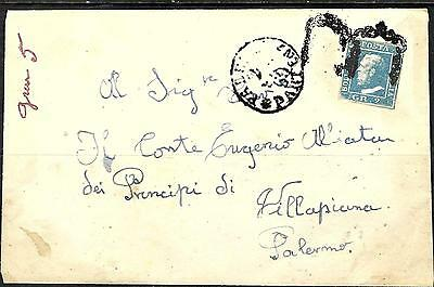 0212 - Italy - Sicily - 1852 - Cover - Forgery, Fake, Falso