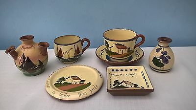 Collection Of Vintage Devon/torquay Motto Ware Items