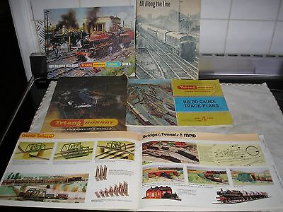 Triang /hornby model railway catalogues and others