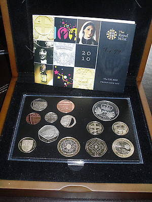 2010 Royal Mint Proof Set - slabbed and boxed. Mark the year.