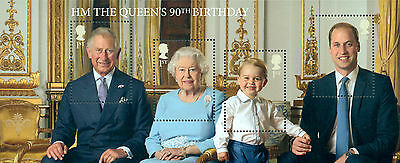 Great Britain - HM The Queen's 90th Birthday MINATURE SET 2016