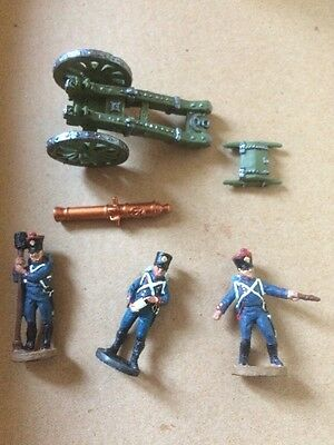 Del Prado Relive Waterloo French Artillery Battery Cannon And Crew