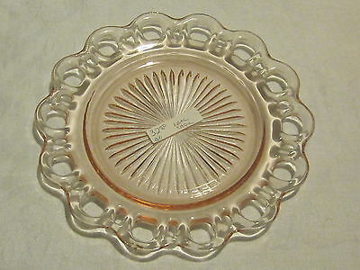 Hocking Glass Old Colony Pink Salad Plates (4)