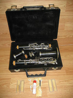 Goldtone #2 Clarinet Ebo-Tone SML Paris France w/ Atco Hard Carry Case & More