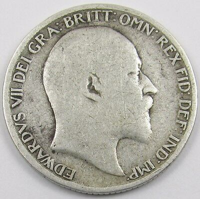 KING EDWARD VII SILVER SIXPENCE COIN dated 1904