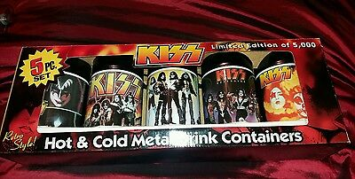 Kiss Limited Edition Flasks Very Rare Only 5000 Issued