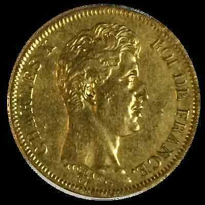 40 Francs  OR Charles X 1829 A
