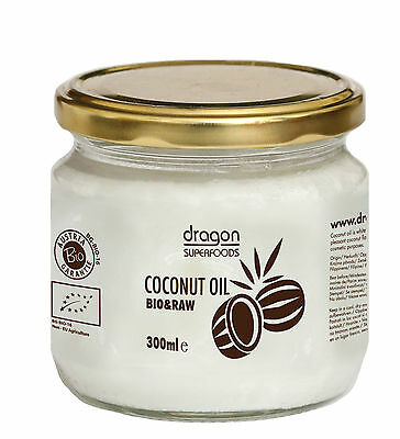 Coconut oil 100 ml Cold pressed, BIO &  RAW  by Dragon Superfoods