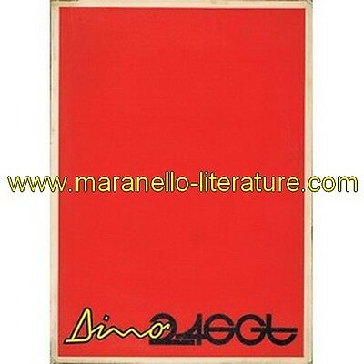 1972 Ferrari Dino 246 GT owner's manual 72/72 from car s/n 02132 (Operating, mai