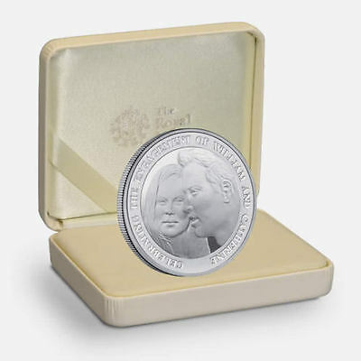 Prince William Royal Engagement 2011 - Alderney £5 Proof Silver Coin with COA